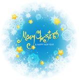Xmass Card Background with Text. Vector. Illustration Stock Image