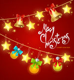 Xmass Card Background with Text. Vector. Illustration Stock Photo