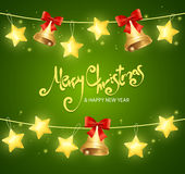 Xmass Card Background with Text. Vector. Illustration Stock Photos