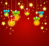 Xmass or Holiday Background. Vector Royalty Free Stock Image