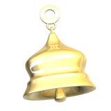 Xmass isolados do sino dourado (3D) Imagens de Stock Royalty Free