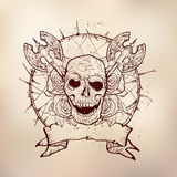 Xmass tattoo skull Royalty Free Stock Images