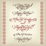 Xmass title calligraphy decorative Royalty Free Stock Image