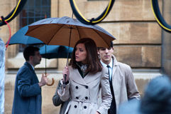 Xmen first class film set Rose Byrne Royalty Free Stock Image