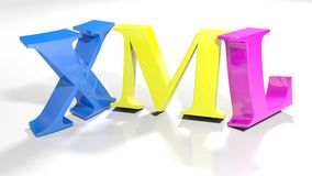 XML 3D coloré écrivent - le rendu 3D Image libre de droits
