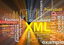 XML de doospakket van de woordwolk Royalty-vrije Stock Afbeelding