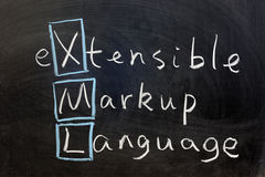 XML, extensible markup language Royalty Free Stock Images