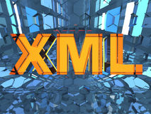 XML - Extensible Markup Language Photographie stock