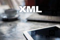 XML Sieć rozwój Interneta i technologii pojęcie Obraz Stock
