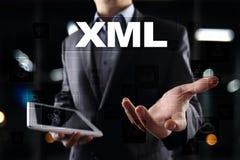 XML Sieć rozwój Interneta i technologii pojęcie Obrazy Stock
