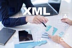 XML Sieć rozwój Interneta i technologii pojęcie Zdjęcie Royalty Free