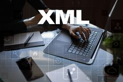 XML Sieć rozwój Interneta i technologii pojęcie Fotografia Royalty Free