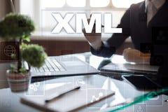 XML Sieć rozwój Interneta i technologii pojęcie Zdjęcia Stock