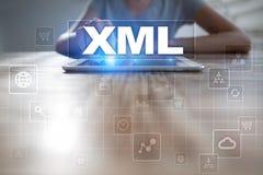 XML Sieć rozwój Interneta i technologii pojęcie Obraz Royalty Free