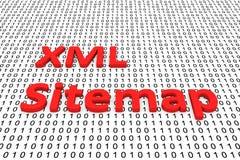 Xml sitemap Arkivbild