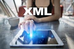 XML Webontwikkeling Internet en technologieconcept Stock Fotografie