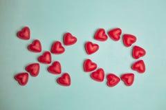 XO Candy - tipografia di San Valentino Fotografia Stock