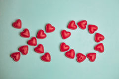 XO Candy  - Valentine's Day Typography Stock Photo