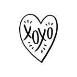 XO XO卡片 免版税库存照片