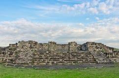 Xochicalco,墨西哥哥伦布发现美洲大陆以前考古学站点  库存照片