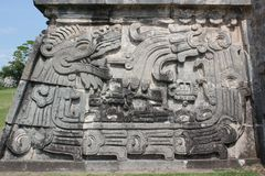 Xochicalco l'un Quetzalcoatl Photo stock