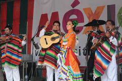 Xochicalli Mexican folkloric group Stock Photo
