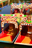 Xochimilco channel. Typical view of xochimilco, in mexico city, mexico Stock Photos