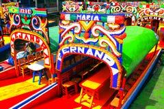 Xochimilco IV royalty-vrije stock fotografie