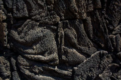 Xochimilco lava blocks texture DF Mexico Royalty Free Stock Photography