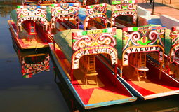 Xochimilco transportation Royalty Free Stock Photo