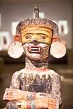 Xochipill il dio dei fiori. Di legno intagliato mano. Fotografie Stock Libere da Diritti