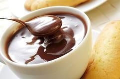 Xocolata i melindros, hete chocolade met typische gebakjes van Kat Royalty-vrije Stock Foto's