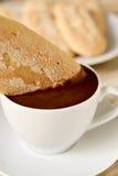 Xocolata i melindros, hete chocolade met typische gebakjes van Kat Stock Afbeelding