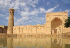 Xoja Kalon Minaret and Xoja Kalon Mosque in Bukhara city, Uzbekistan Stock Images