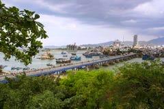 Xom Bong bridge, Nha Trang province, Vietnam Stock Photography