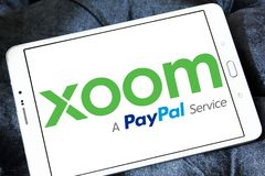 Xoom Korporation logo arkivfoton