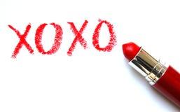 XOXO: Abbraccia e baci Immagini Stock Libere da Diritti