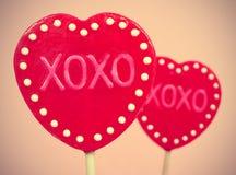 XOXO, abrazos y besos Fotografía de archivo libre de regalías