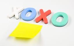 Xoxo en post-it Stock Afbeelding