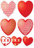 Xoxo hearts Stock Image