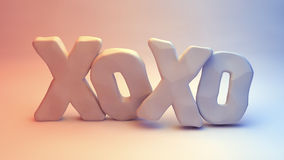 XOXO-Hugs and kisses Stock Photo