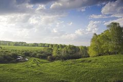 XP style. Spring landscape royalty free stock image