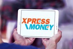 Xpress Money company logo. Logo of Xpress Money company on samsung tablet. Xpress Money is a global money transfer company stock photography