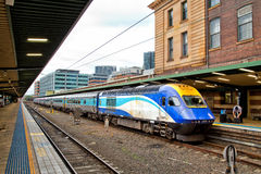 XPT trains in Sydney Central Station Stock Images