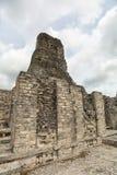Xpujil玛雅人考古学站点在墨西哥 库存图片