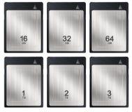 XQD memory cards illustration Royalty Free Stock Photo