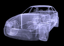 Xray of car Stock Image