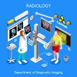 XRay Hospital 01 People Isometric royalty free illustration