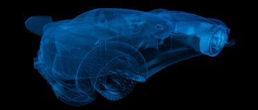 Xray Sports car road-star Royalty Free Stock Images