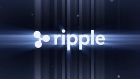 XRP Ripple logo Cryptocurrency. Ripple is a blockchain technology that acts as both a cryptocurrency and a digital vector illustration